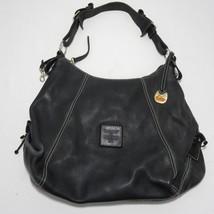 Dooney & Bourke 1975 Heavy Black Pebbled Leather Hobo Satchel Handbag Purse - $98.95