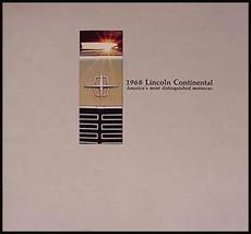 1968 Lincoln Continental Dlx Brochure Xlnt - $5.45