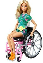 Barbie Fashionistas #165 Blonde Tropical Romper Fanny Pack Wheelchair BR... - $16.99