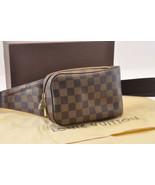 LOUIS VUITTON Damier Ebene Geronimos Shoulder Bag N51994 LV Auth 7240 - $598.00