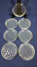 "Vintage Fostoria American Clear Pressed Glass 3 3/4"" Coasters Seven (7) - $97.99"