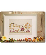 Mademoiselle Autuomne autumn fall cross stitch chart Madame Chantilly - $12.60