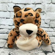 Manhattan Toy Co Cheetah Plush Hand Puppet Soft Spotted Stuffed Toy Cat - $14.84