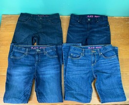 4 Pairs Girl's Place Size 10 Jeans & Jeggings - Dark & Medium Wash, Skin... - $24.99