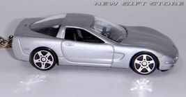 KEY CHAIN RING SILVER CHEVY CORVETTE C5 CHEVROLET COUPE - $19.97