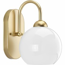 "Progress Lighting P300084 Gold Carisa Single Light 6-1/2""W Bathroom Sconce - $34.65"