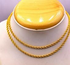 22 KARAT YELLOW GOLD AMAZING ROPE CHAIN NECKLACE HALLMARK GIFTING JEWELR... - $600.17
