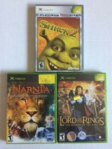 XBOX  Fantasy Movie Games: Lord Of the Rings, Shrek 2, Chronicles Of Narnia - $9.89