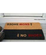 POTTERY BARN SNOWSHOES NO SHOES DOORMAT -NWT- CHEEKY CHIC COMING AND GOING! - $54.95