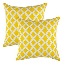 TreeWool, (2 Pack) Throw Pillow Covers Lattice / Trellis Accent in Soft ... - $15.99