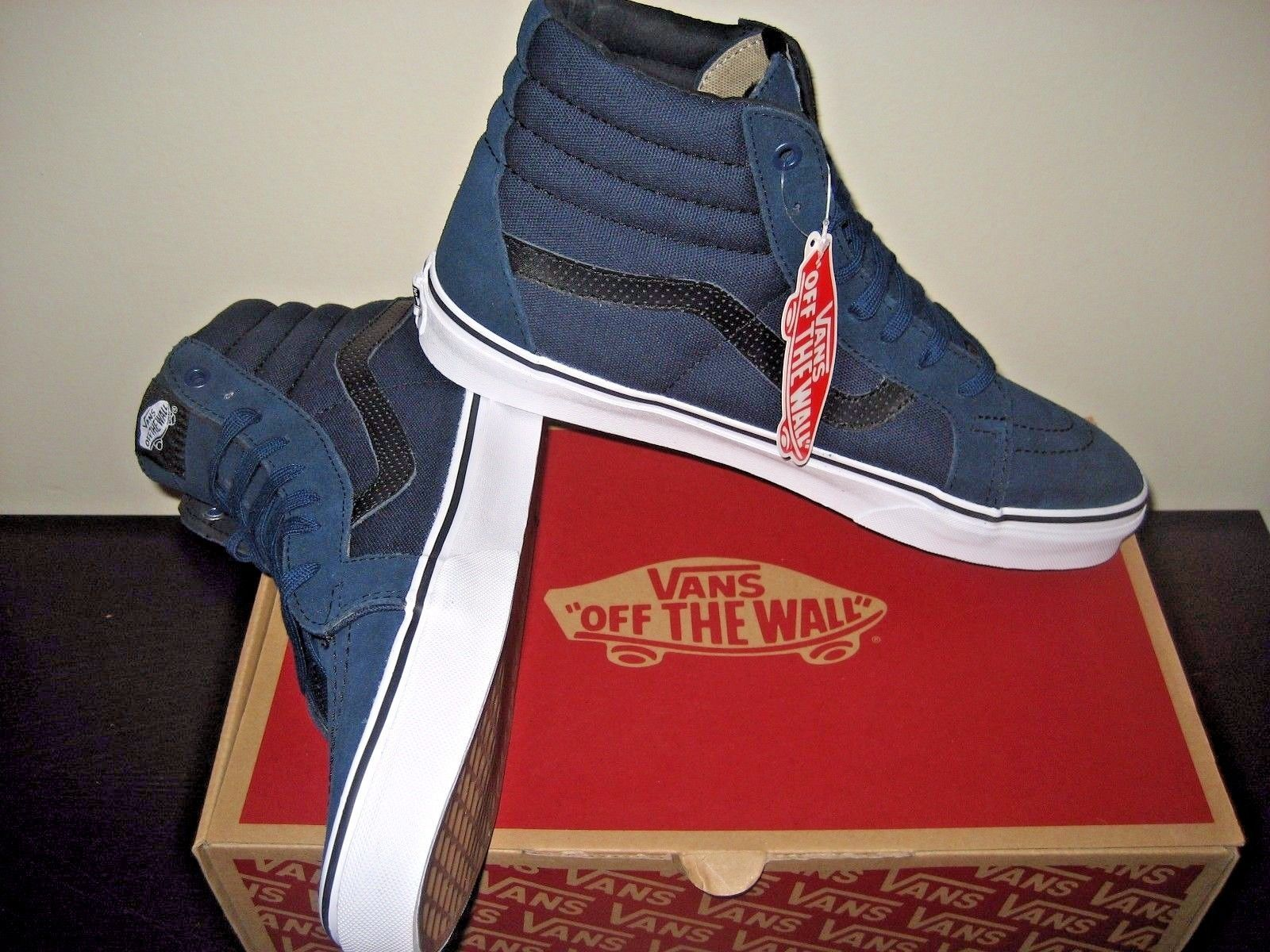 453e557b55 Vans Sk8-Hi Reissue Mens C P Dress Blues Black Skate shoes Size 11  VN0004OKJUJ