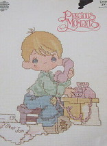 Precious Moments Counted Cross Stitch Dear Jon Embroidery Gloria Pat Crafts - $9.89