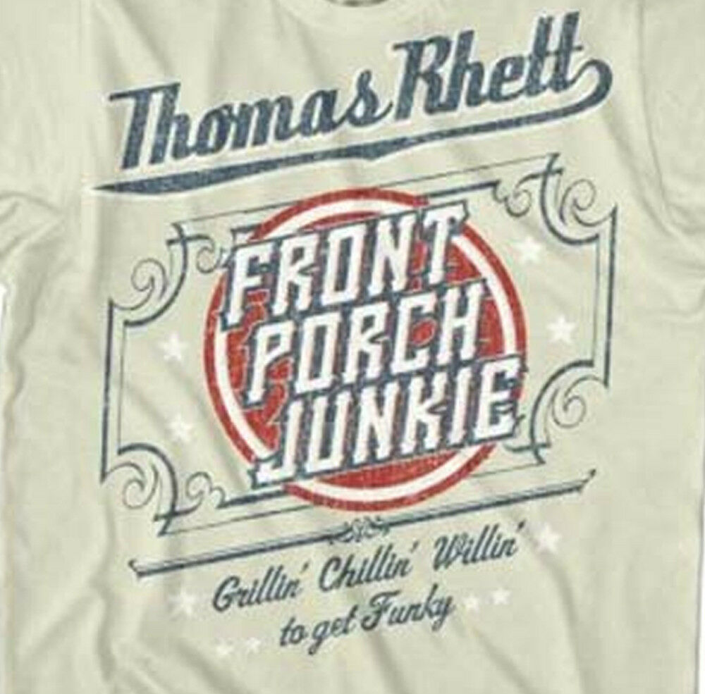 Thomas Rhett T-shirt Front Porch Junkie country music grey cotton graphic tee