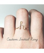 Fashion Letter Rings Women Simple Gold Silver Color Name Ring Girls Fing... - $1.49