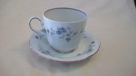 Johann Haviland Bavaria Germany Blue Garland Coffee Cup and Saucer - $20.79
