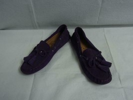 New Coach Nadia Moccasins Loafers Purple Leather Suede Shoes Size 8.5B - $49.49