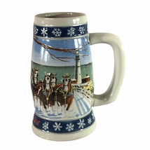 Budweiser Holiday Clydesdale's 1995 Christmas Beer Stein Lighting The Way Home   - $13.85