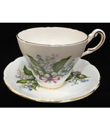 Tea Cup & Saucer Porcelain Regency Bone China Lily of the Valley Flower ... - $12.86