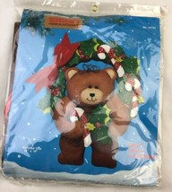 Titan Needlecraft Felt Wall Hanging Kit Christmas 93723 Craft Bear Wreat... - $18.37