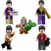 New Beatles 5 Characters For Lego Sets Mccartney, Lennon, Harrison Starr Hillary - $14.99
