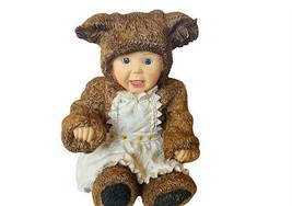 Anne Geddes Figurine Enesco vtg 1998 Little Things Mean A Lot Teddy Bear... - $24.70