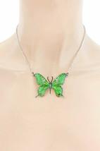 Email Vert Papillon Amusant Décontracté Quotidien Délicat Collier Earrings Set - $15.26