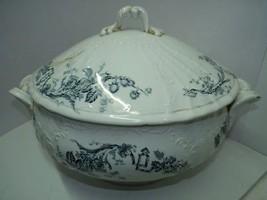 "Antique 19C Imperial Russia Gardner Marked Porcelain Tureen & Lid H 10"",... - $294.00"