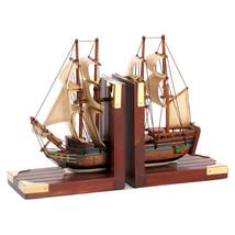 Sailing Schooner Bookends - £30.16 GBP