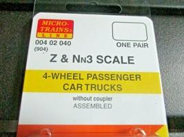 Micro-Trains Stock # 00402040 (904) 4-wheel Passenger Car Trucks Z & Nn3 image 2