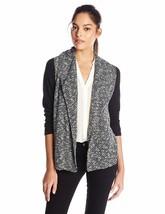 Jones New York Womens Black Combo Drape Front Cardigan Sweater Medium M 14021 - $23.12