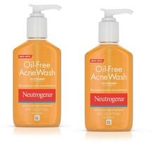 2 pack NEUTROGENA OIL-FREE ACNE WASH 6 OZ Expire 1/2022 - $18.80