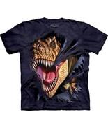 T-Rex Dinosaur Tearing Hand Dyed Fantasy T-Shirt, NEW UNWORN - $14.50
