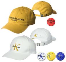 Calvin Klein CK Men's Unstructured Embroidered Baseball Dad Hat Adjustable Cap