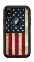 Skin Decal Wrap for Iphone X Otterbox Defender Case American Flag Vintag... - $7.99