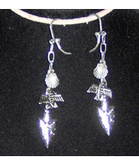Custom Made! Earrings with Dangling Silver Plated Charms... Shell Arrow ... - $15.56