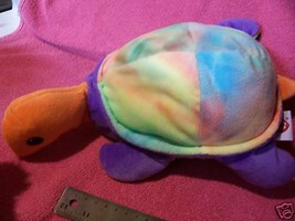 Ty Turtle Pillow Pal 1999 Tye Dye snap plush stuffed cute - $7.34