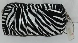 Natalie Brand 404MZE Black White Zebra Striped Clutch Removable Shoulder Strap image 1