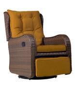 Outdoor Patio Rattan Wicker Rocking Cushioned Swing Garden Glider Lounge... - $479.99