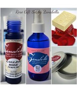 ROSE AROMATHERAPY GIFT SET Organic Hand Butter Body Mist Spray Perfume &... - $53.87