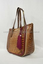 NWT  Brahmin Medium Lena Leather Tote/Shoulder Bag in Toasted Almond Hayes - $319.00