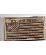 AIR FORCE DESERT FLAG  2 X 3  EMBROIDERED PATCH WITH HOOK LOOP - $15.33
