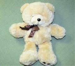 "Vintage Commonwealth TEDDY BEAR 1990 Tan Plush Baby Stuffed Animal 17"" B... - $28.05"