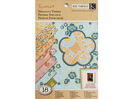 K&Company Handmade Garnish Specialty Mat Pad Cardstock, 18 Sheets #30-320246