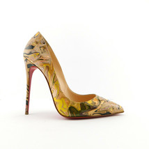 CHRISTIAN LOUBOUTIN Size 7.5 PIIGALLE FOLLIES Marble Heels Pumps Shoes 3... - $589.00