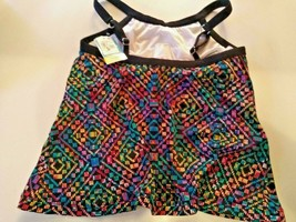 Swim Solutions Crossover Under Wire Swimwear Top Size 12 image 2