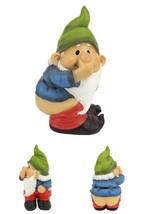 Gnome Garden Ornament Small Lawn Statue Sculpture Hand Painted Decoration  - $25.96
