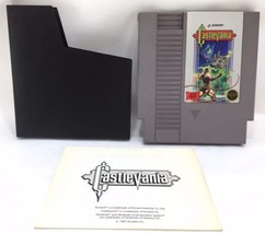 1985 Nintendo NES Game Cartridge Konami Original Castlevania 1 w Manual ... - $32.29