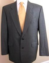 Hugo Boss Blazer 42R Gray 100% Wool 2 Buttons Made USA Sport Jacket Coat Mens - $23.12