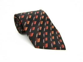 Pierre Cardin Silk Multicolor Geometric Pattern Tie - $5.99