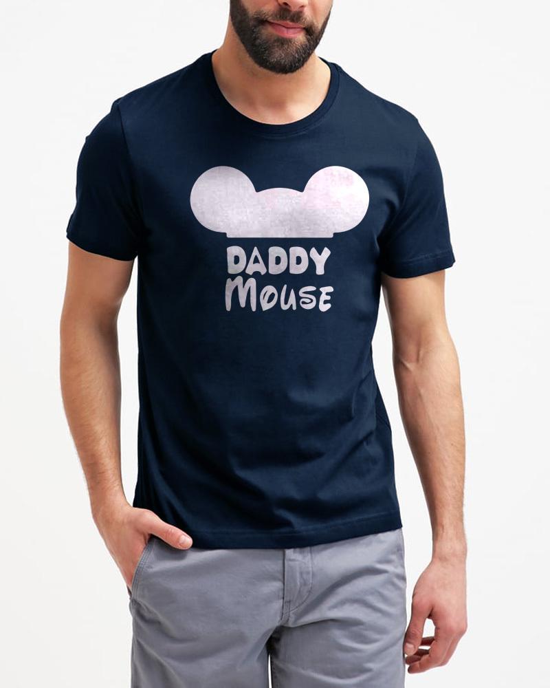 Funny Daddy Mouse Gift Shirt Men Black T-Shirt Birthday